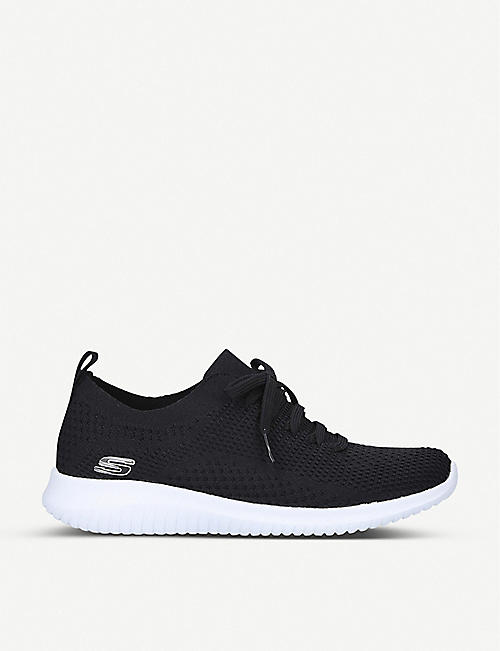 SKECHERS: Ultra Flex nylon and mesh trainers