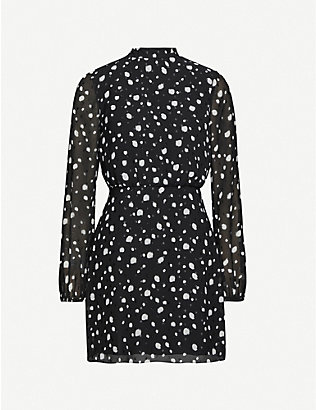 TED BAKER: Floelle polka dot crepe mini dress
