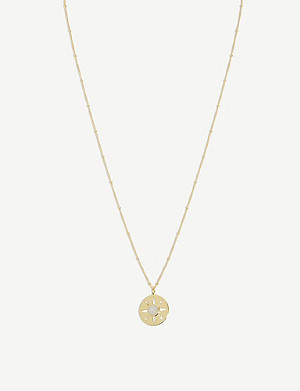 MISSOMA Medallion 18ct gold-plated vermeil sterling silver necklace