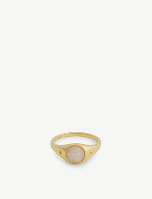 MISSOMA Gemstone gold vermeil ring