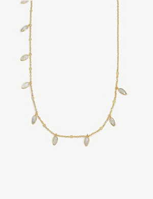 MISSOMA Gemstone gold-plated vermeil silver necklace