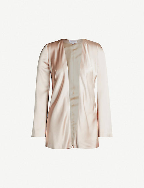 GALVAN: Relaxed-fit satin jacket
