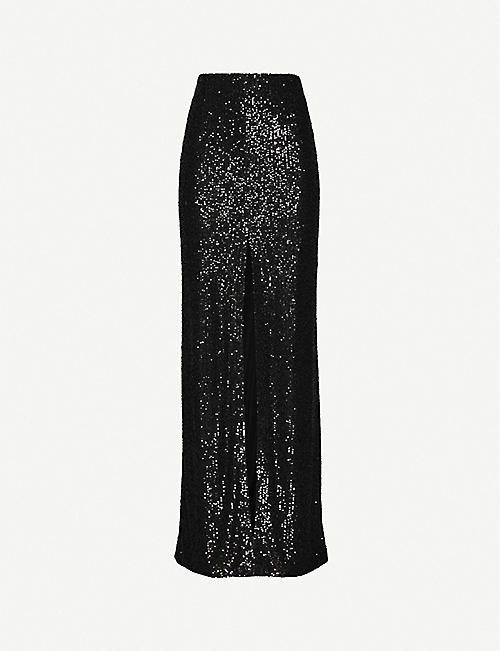 GALVAN: Modern Love high-waisted sequinned maxi skirt