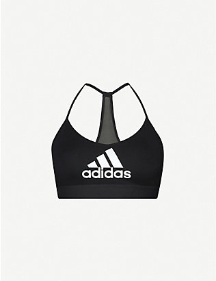 ADIDAS PERFORMANCE: Badge of Sport logo-print stretch-jersey sports bra