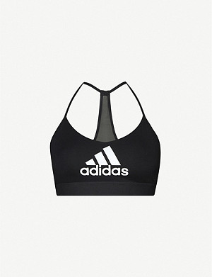 ADIDAS PERFORMANCE Badge of Sport logo-print stretch-jersey sports bra