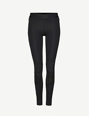 ADIDAS PERFORMANCE Alphaskin mesh-insert stretch-jersey leggings