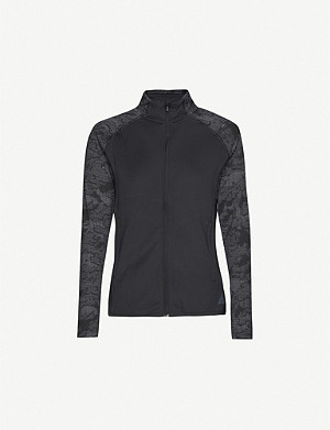 ADIDAS PERFORMANCE Graphic-print funnel-neck stretch-jersey jacket