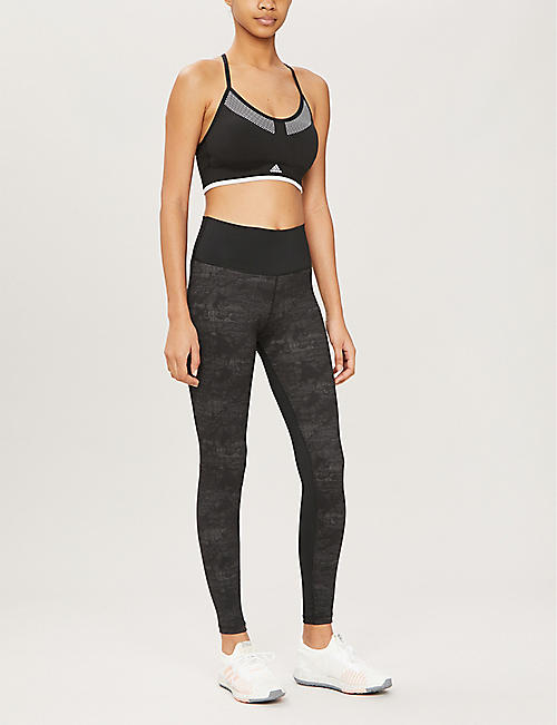 ADIDAS PERFORMANCE Camouflage-pattern high-rise stretch-jersey leggings