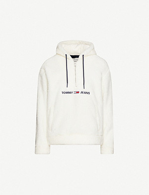 TOMMY JEANS Logo-embroidered teddy hoody