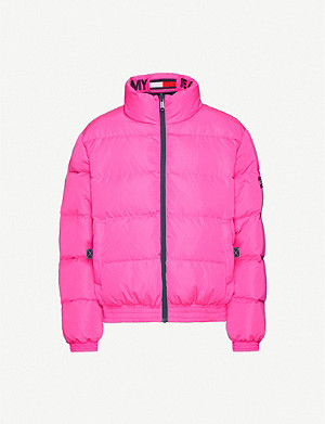 TOMMY JEANS Reversible funnel-neck shell-down jacket