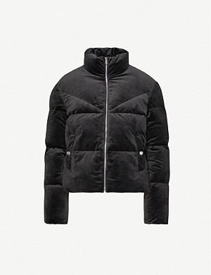 TOMMY JEANS Quilted velvet jacket
