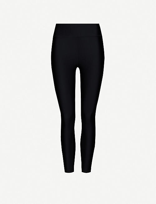 THE UPSIDE: High-rise stretch-jersey leggings