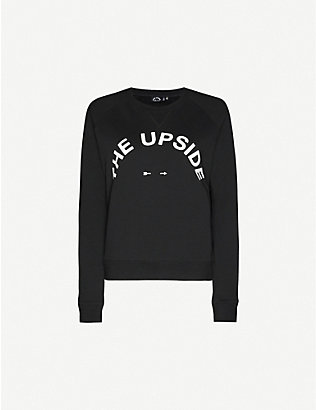 THE UPSIDE: Bondi logo cotton-jersey sweatshirt