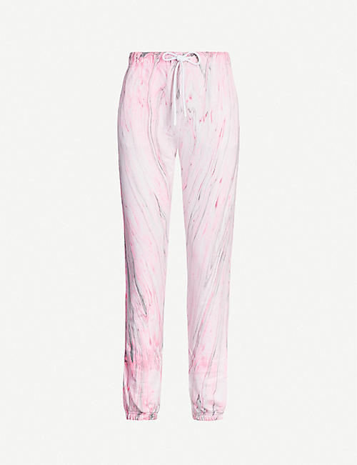 COTTON CITIZEN Milan marble-print cotton-jersey jogging bottoms