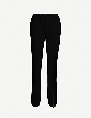 COTTON CITIZEN: Milan zipped cotton-jersey jogging bottoms