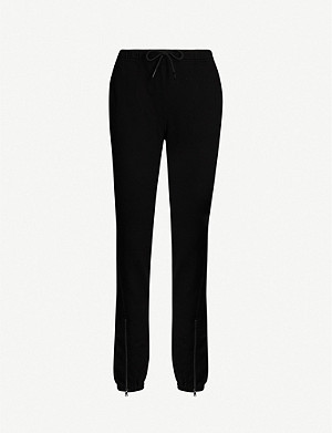COTTON CITIZEN Milan zipped cotton-jersey jogging bottoms