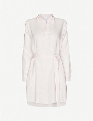 POUR LES FEMMES: Belted linen night dress