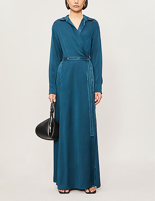 SIES MARJAN Aviva wrap-front woven maxi dress