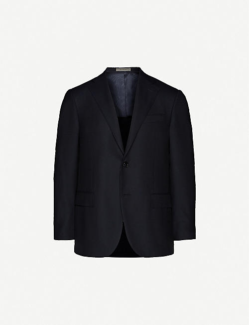 CORNELIANI Single-breasted wool suit jacket