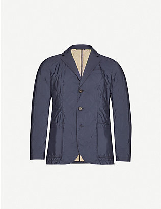 CORNELIANI: Quilted notch-lapel shell blazer