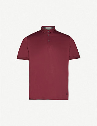 CORNELIANI: Classic-fit cotton-jersey polo shirt