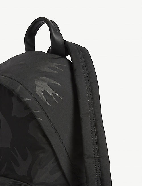 MCQ ALEXANDER MCQUEEN Classic swallow print canvas backpack