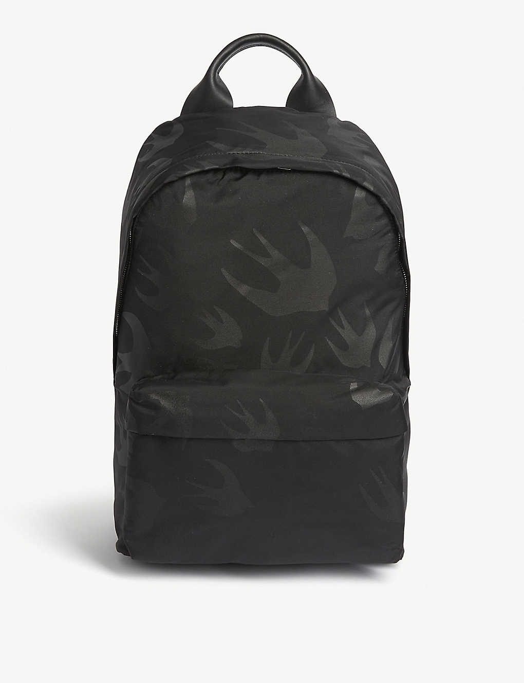 MCQ ALEXANDER MCQUEEN: Classic swallow print canvas backpack