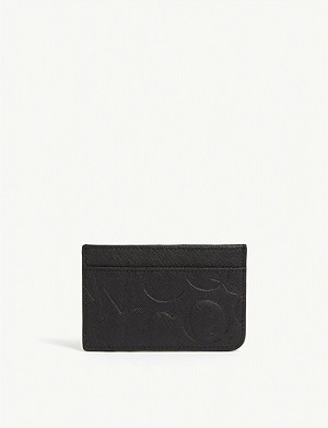 MCQ ALEXANDER MCQUEEN Logo embossed leather card holder