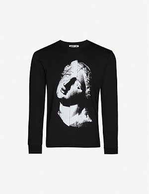 MCQ ALEXANDER MCQUEEN Noise scoop-neck cotton-jersey T-shirt