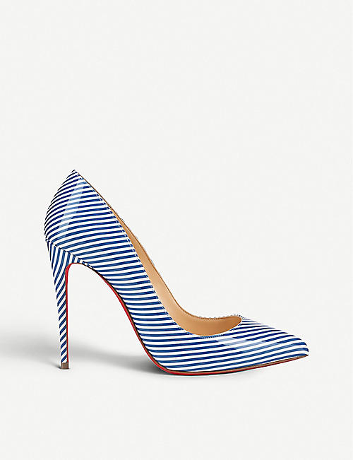 CHRISTIAN LOUBOUTIN Pigalle follies 100 pat stripes