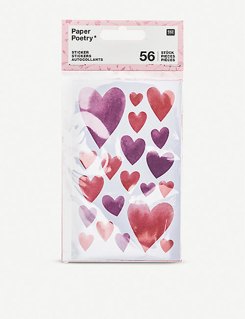 RICO DESIGN Heart stickers set of 56