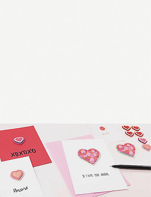 RICO DESIGN 3D love heart sticker set of 8