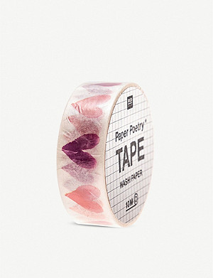 VALENTINES Paper Poetry Washi decorative tape 10m
