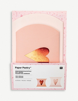VALENTINES Paper Poetry metallic-heart gift boxes