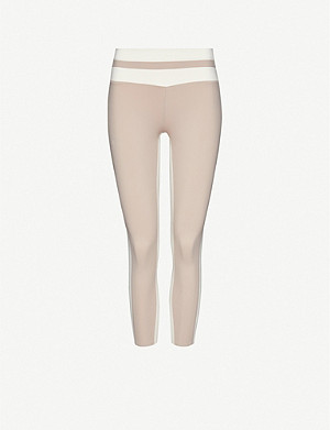 VAARA Flo 7/8 striped high-rise stretch-woven leggings
