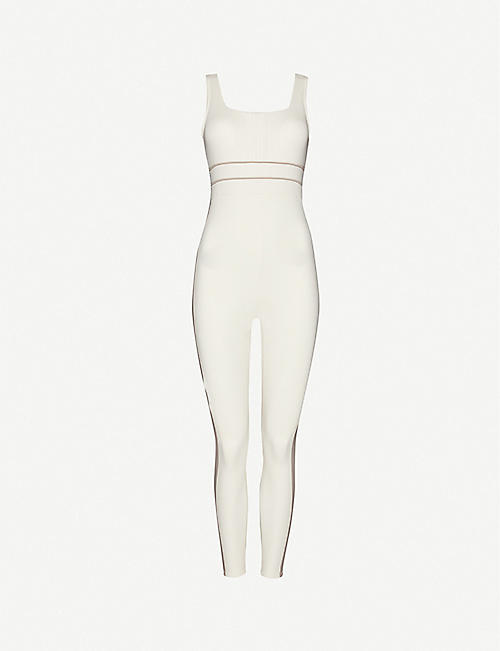 VAARA: Katie square-neck stretch-woven jumpsuit