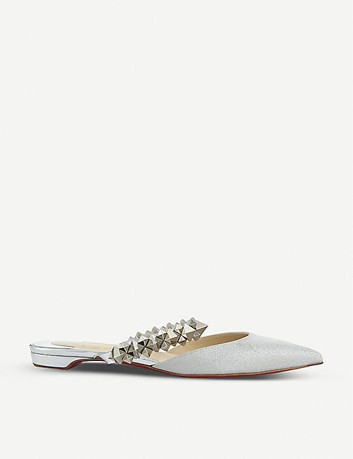 CHRISTIAN LOUBOUTIN Planet choc flat mini glitter/sp