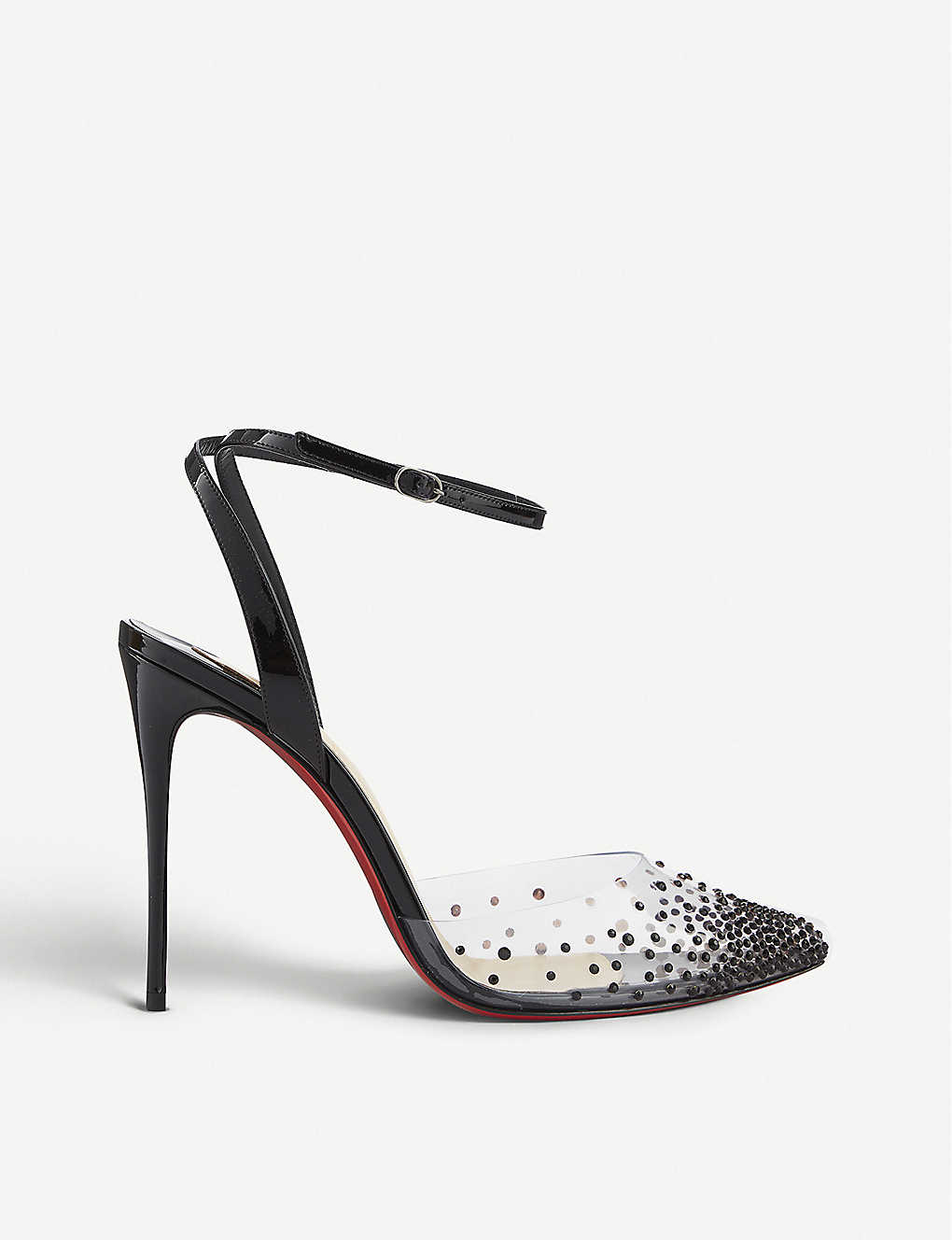 CHRISTIAN LOUBOUTIN: Spikaqueen 100 pvc/patent
