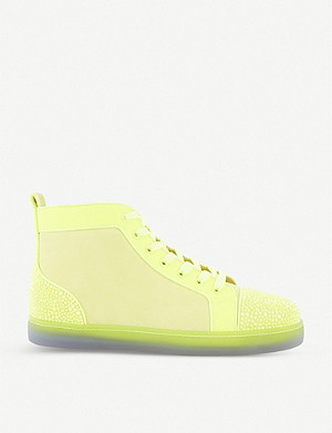 CHRISTIAN LOUBOUTIN Louis P Strass II leather trainers