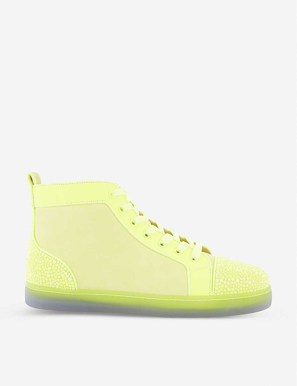 CHRISTIAN LOUBOUTIN: Louis P Strass II leather trainers