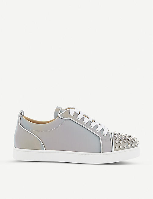CHRISTIAN LOUBOUTIN Louis junior spikes orlato flat calf nir