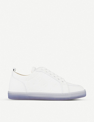 CHRISTIAN LOUBOUTIN Rantulow logo-embossed leather trainers