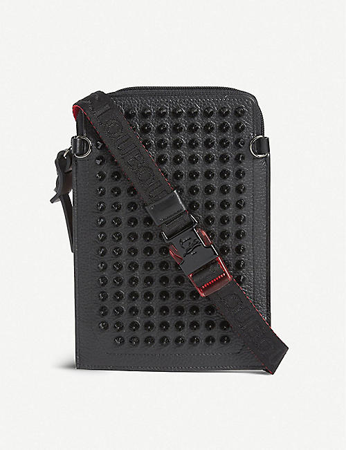 CHRISTIAN LOUBOUTIN: Loubilab calfskin-leather phone case