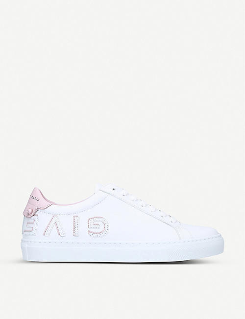 GIVENCHY: Logo-print leather trainers