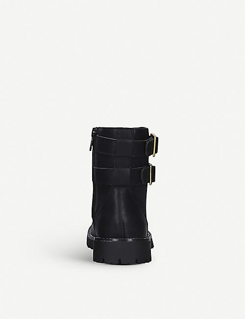 KURT GEIGER LONDON Mini Stoop faux-leather biker boots