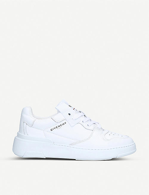 GIVENCHY: Wing grained-leather low-top trainers