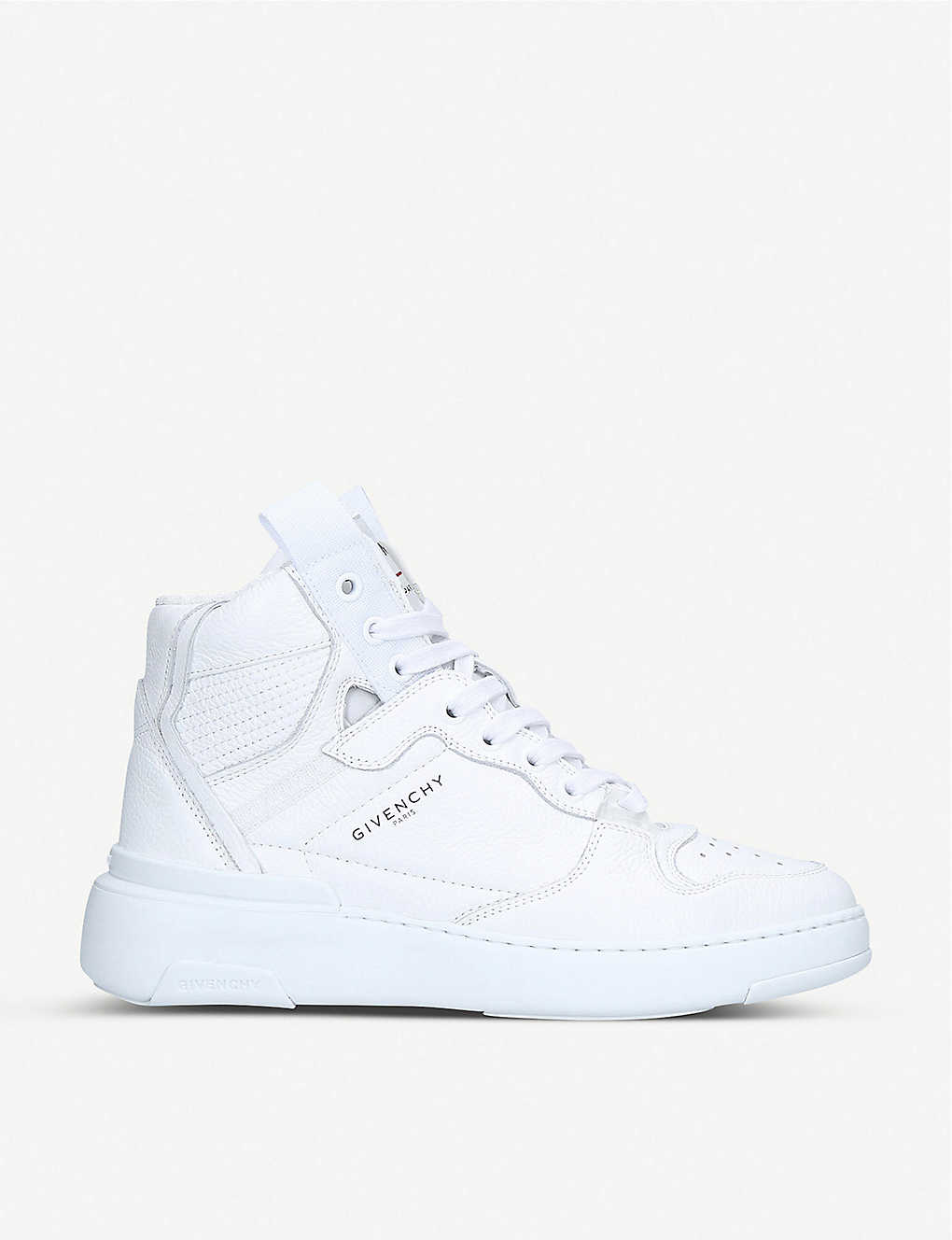 GIVENCHY: Wing grained-leather high-top trainers