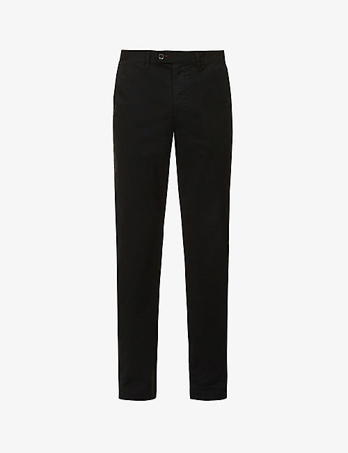 TED BAKER: Slim-fit tapered cotton-blend chinos