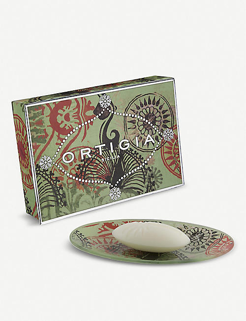ORTIGIA SICILIA: Fico D'India glass plate and scented soap