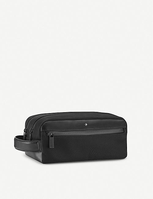 MONTBLANC: Nightflight fabric and leather wash bag